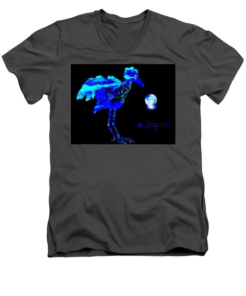 Bluebird Watching Men's V-Neck T-Shirt by Hartmut Jager