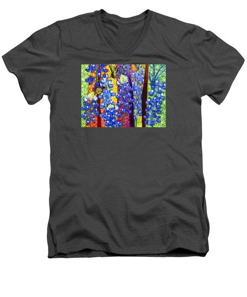 Bluebonnet Garden Men's V-Neck T-Shirt