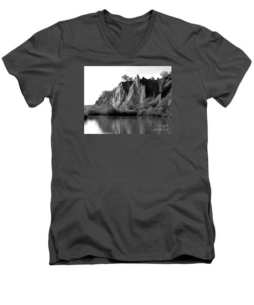 Men's V-Neck T-Shirt featuring the photograph Bluffers Park Toronto Canada by Susan  Dimitrakopoulos