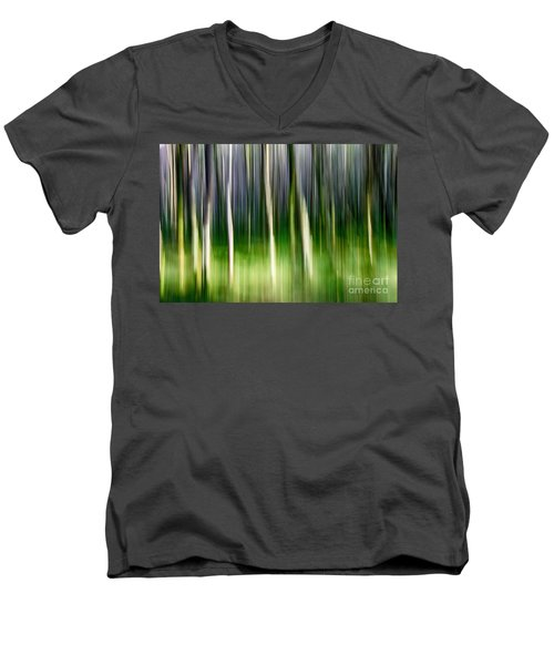 Men's V-Neck T-Shirt featuring the photograph Blurred by Juergen Klust