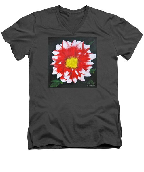 Blushing Dahlia Men's V-Neck T-Shirt