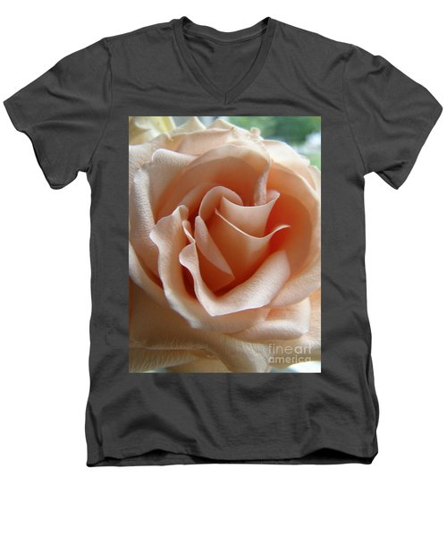 Blushing Rose Men's V-Neck T-Shirt