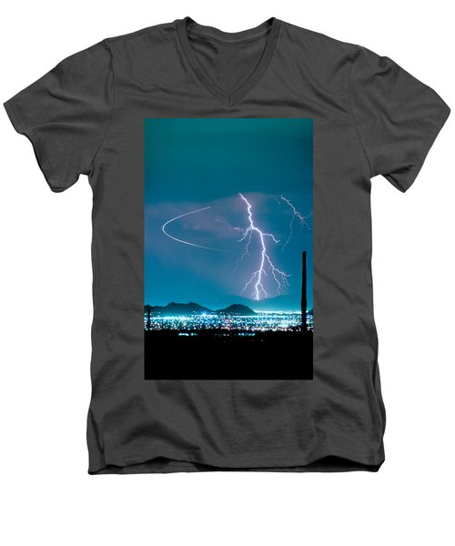 Bo Trek The Lightning Man Men's V-Neck T-Shirt