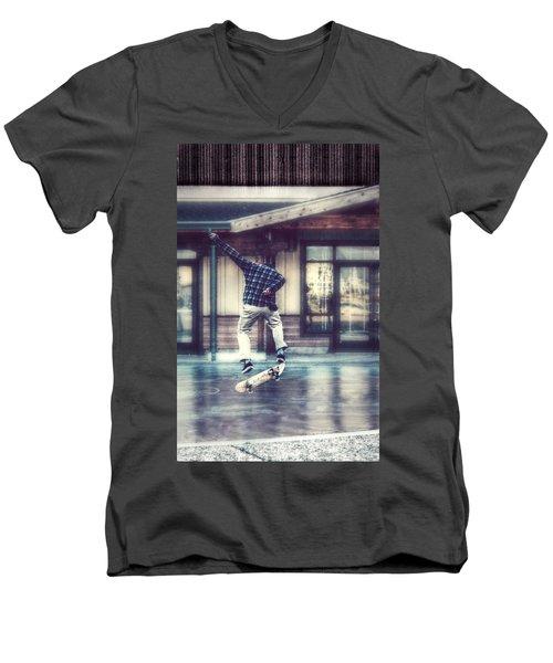 Boarder Bliss Men's V-Neck T-Shirt by Melanie Lankford Photography