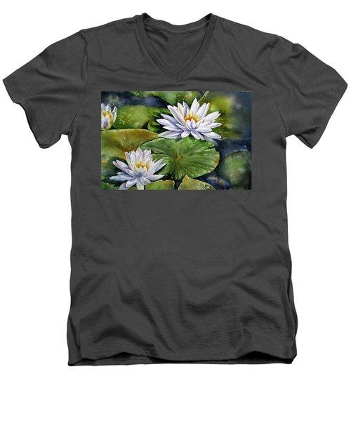Boardwalk Lilies Men's V-Neck T-Shirt
