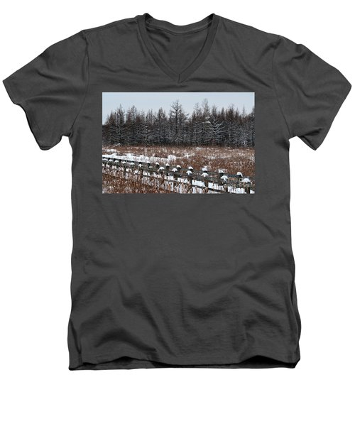 Men's V-Neck T-Shirt featuring the photograph Boardwalk Series No1 by Bianca Nadeau