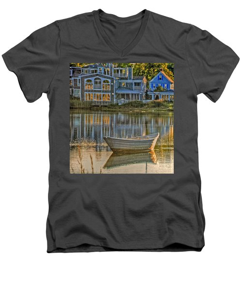 Boat In Late Afternoon Men's V-Neck T-Shirt