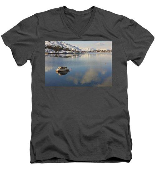 Boat In The Arctic Circle Men's V-Neck T-Shirt
