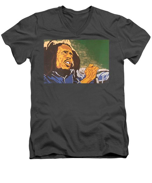 Bob Marley Men's V-Neck T-Shirt