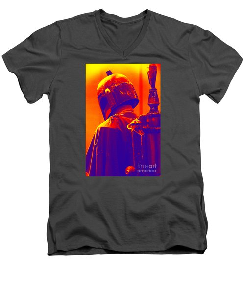 Boba Fett Costume 2 Men's V-Neck T-Shirt by Micah May