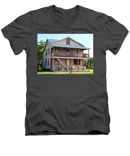 Men's V-Neck T-Shirt featuring the photograph Bodden House by Amar Sheow