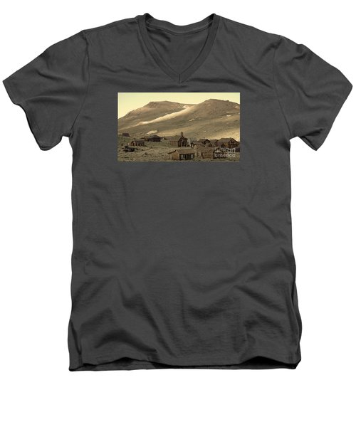 Men's V-Neck T-Shirt featuring the photograph Bodie California by Nick  Boren