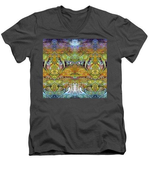 Men's V-Neck T-Shirt featuring the digital art Bogomil Variation 12 by Otto Rapp