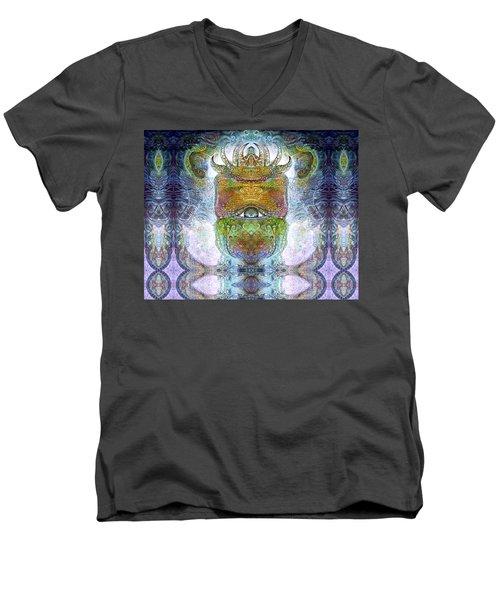 Men's V-Neck T-Shirt featuring the digital art Bogomil Variation 15 by Otto Rapp