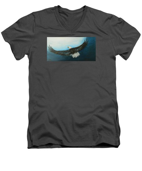 Men's V-Neck T-Shirt featuring the painting Bold And Beautiful by Jane See