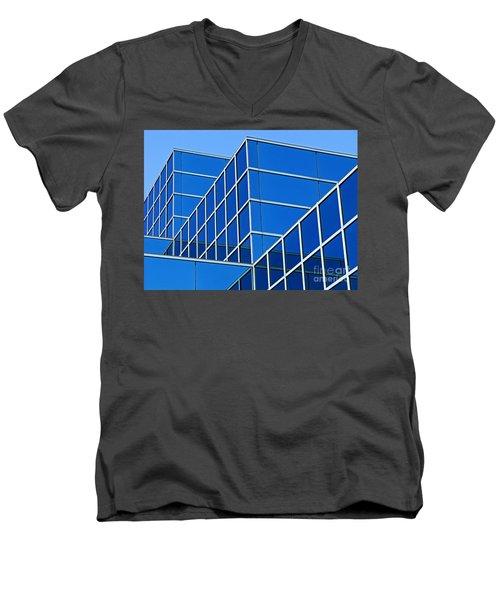 Boldly Blue Men's V-Neck T-Shirt by Ann Horn