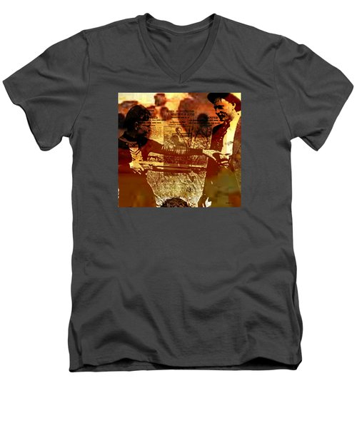 Bonnie And Clyde Men's V-Neck T-Shirt