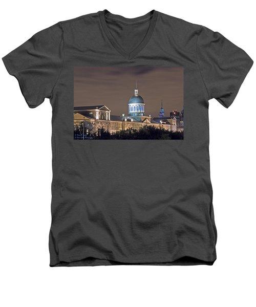 Bonsecours At Night Men's V-Neck T-Shirt