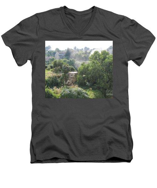 Bordeaux Village Cloud Of Smoke  Men's V-Neck T-Shirt