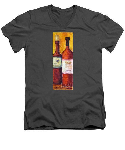Bordeaux Vino Men's V-Neck T-Shirt