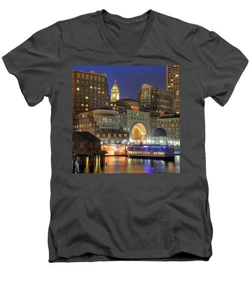 Boston Harbor Party Men's V-Neck T-Shirt