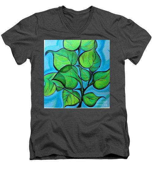Botanical Leaves Men's V-Neck T-Shirt
