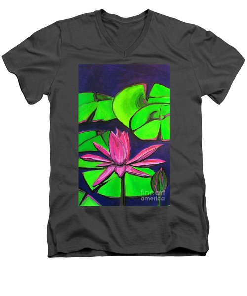 Botanical Lotus 1 Men's V-Neck T-Shirt