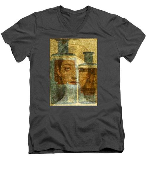 Bottled Up Men's V-Neck T-Shirt by Michael Cinnamond