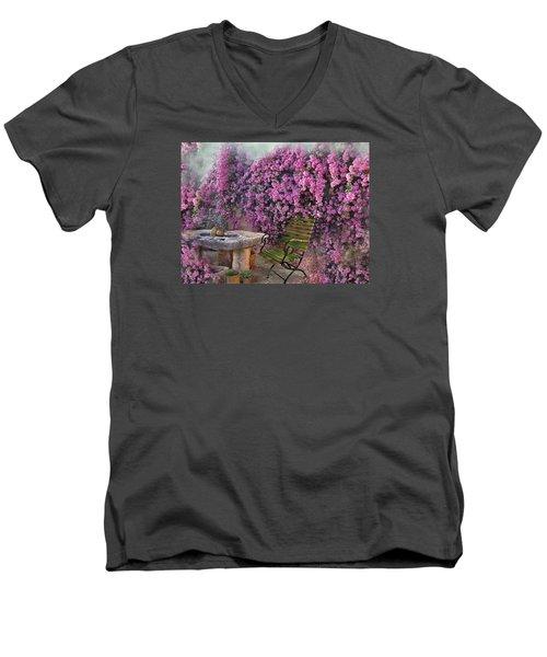 Bougainvillea  Men's V-Neck T-Shirt
