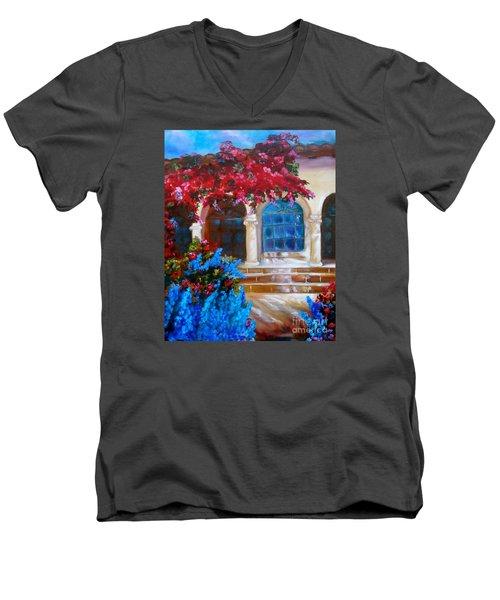 Bouganvellea Hacienda Men's V-Neck T-Shirt