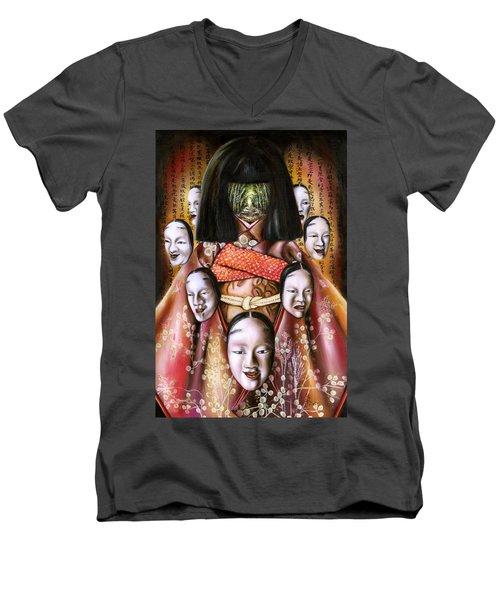 Boukyo Nostalgisa Men's V-Neck T-Shirt