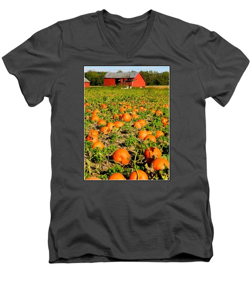 Bountiful Crop Men's V-Neck T-Shirt by Kathy Barney