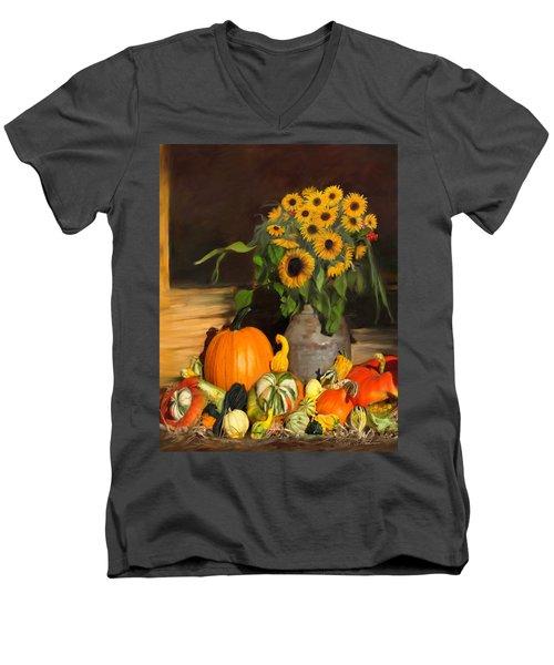Bountiful Harvest - Floral Painting Men's V-Neck T-Shirt