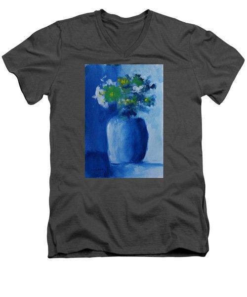 Bouquet In Blue Shadow Men's V-Neck T-Shirt