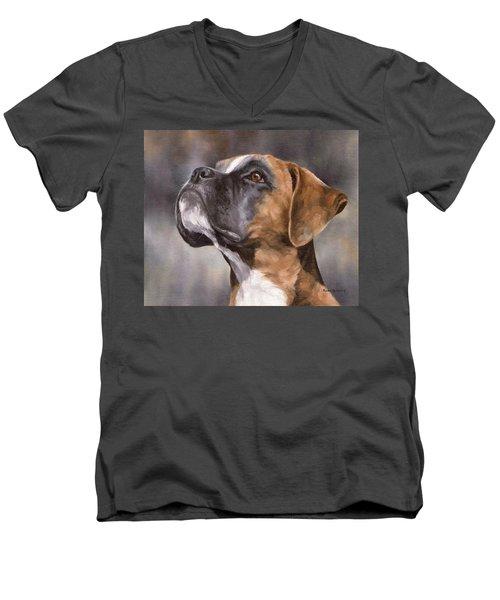 Boxer Painting Men's V-Neck T-Shirt