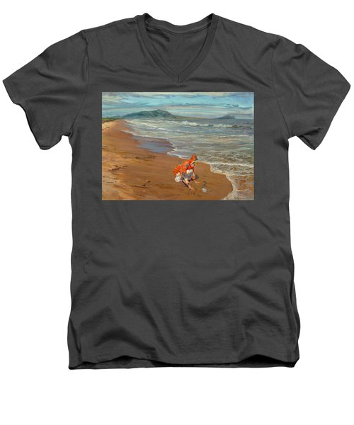 Boy At The Seashore Men's V-Neck T-Shirt