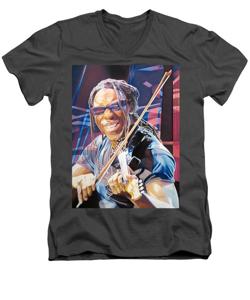 Boyd Tinsley And 2007 Lights Men's V-Neck T-Shirt by Joshua Morton