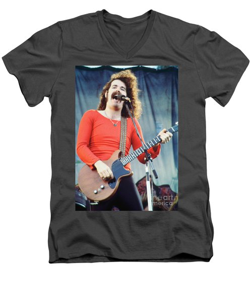 Brad Delp Of Boston-day On The Green 1 In Oakland Ca 5-6-79 1st Release Men's V-Neck T-Shirt