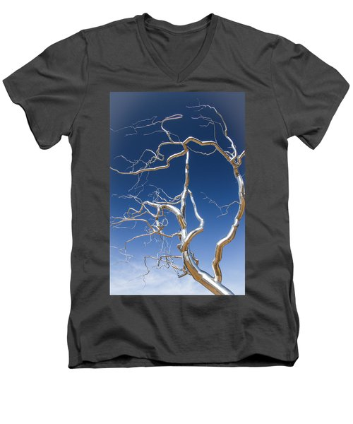 Branches Of Silver Men's V-Neck T-Shirt