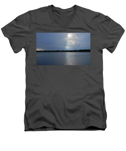 Breaking Through Men's V-Neck T-Shirt by Mark Minier