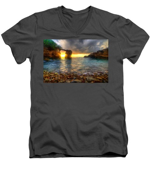 Breaking Through Men's V-Neck T-Shirt