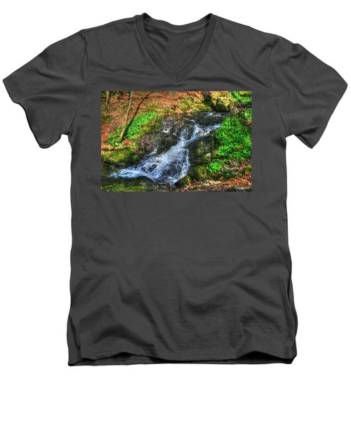 Men's V-Neck T-Shirt featuring the photograph Breath Deeply by Doc Braham
