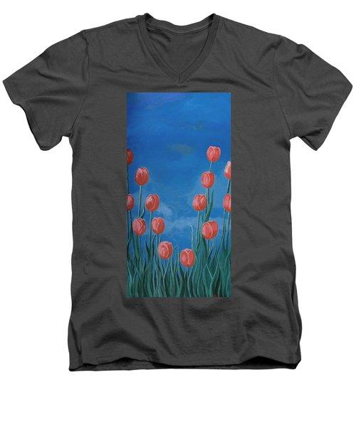 Breath Of Spring Men's V-Neck T-Shirt