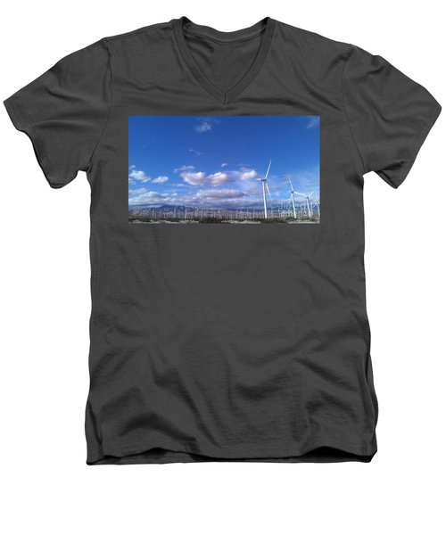 Men's V-Neck T-Shirt featuring the photograph Breeze by Chris Tarpening
