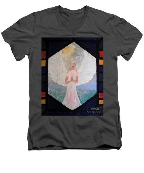 Angel In Prayer  Men's V-Neck T-Shirt