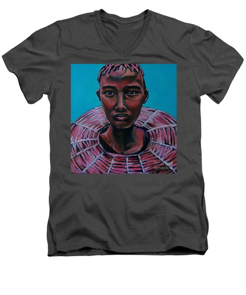 Bride - Portrait African Men's V-Neck T-Shirt