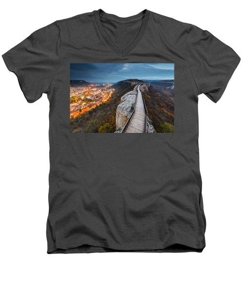 Bridge Between Epochs Men's V-Neck T-Shirt