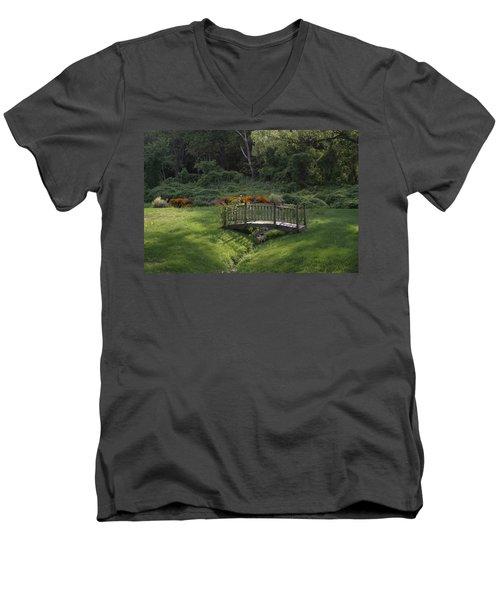 Bridge To Tranquility  Men's V-Neck T-Shirt