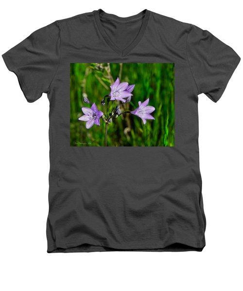 Men's V-Neck T-Shirt featuring the photograph Bridges' Triteleia by Jim Thompson