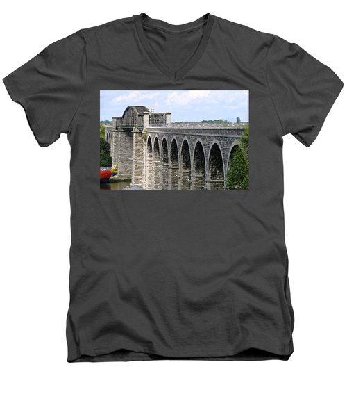 Bridging The Boyne Men's V-Neck T-Shirt